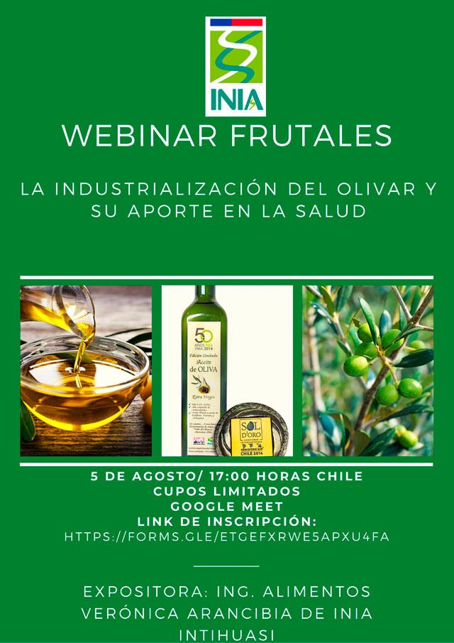 Invitación nuevo Webinar: La industrialización del olivar y su aporte en la salud