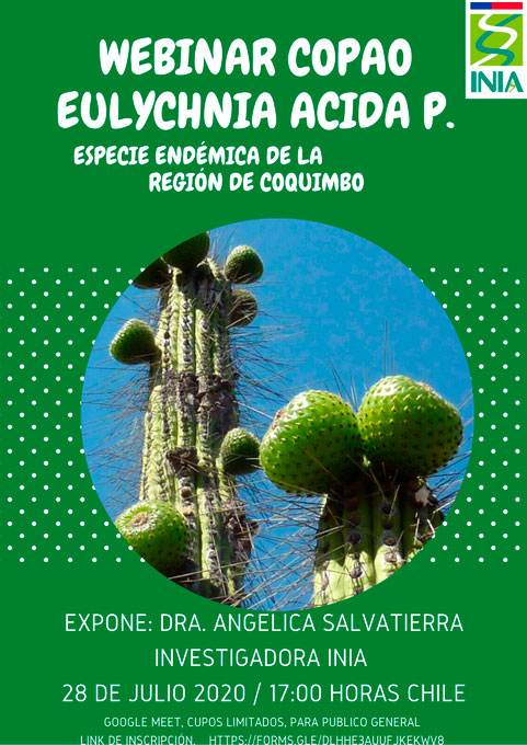 Webinar Copao Eulychnia Acida P. especie endémica de la Región de Coquimbo