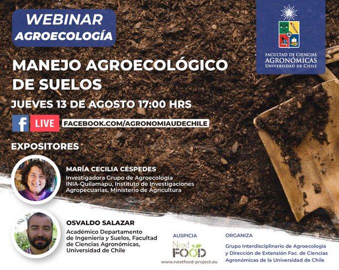 Webinar Agronomía UChile | Manejo agroecológico de suelos