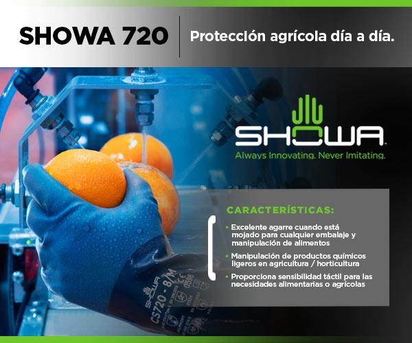 Guantes agrícolas manipulación productos químicos alimentos