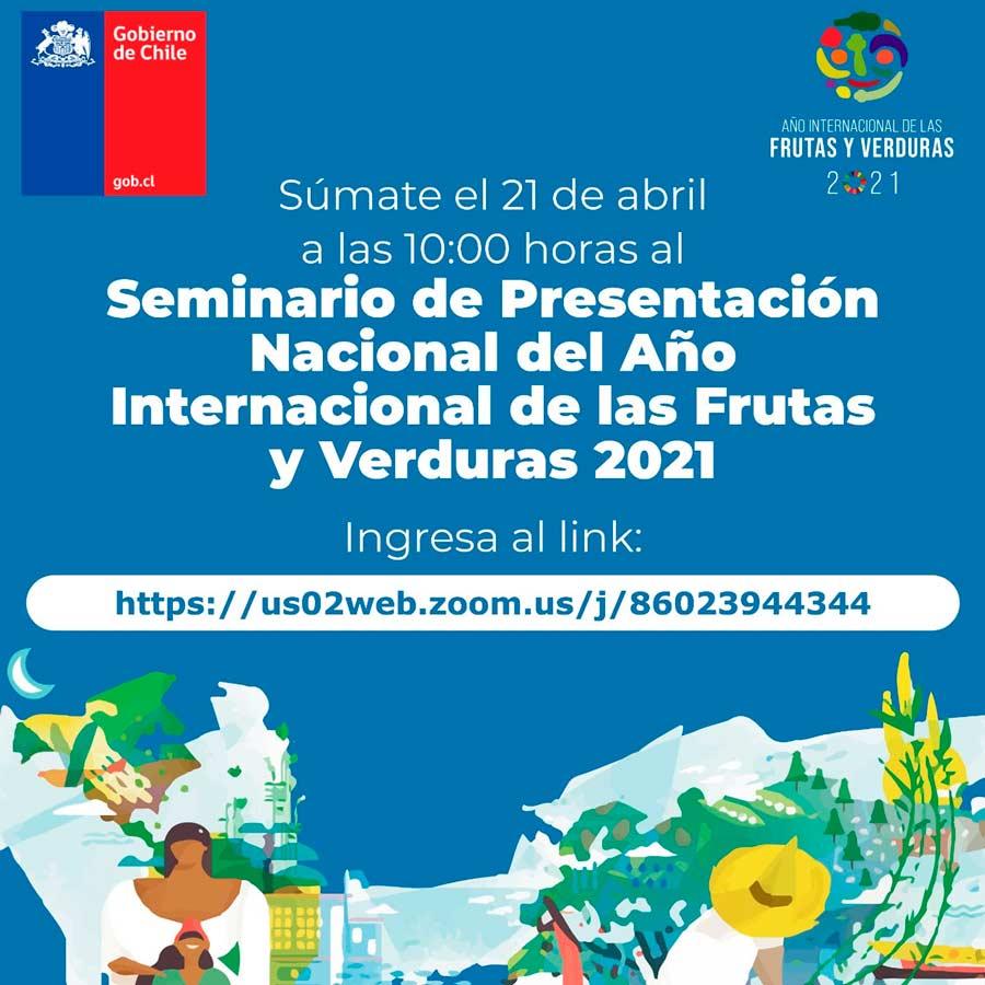 Seminario de Presentación Nacional del Año Internacional de las Frutas y Verduras 2021